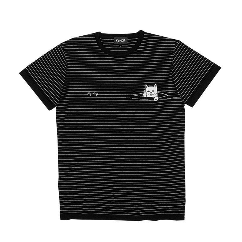日本未上陸 RIPNDIP Peek A Nermal Knit Tee (Black) 国内発送