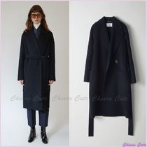 【17aw NEW】 Acne_women/Carice double navy/ロングコート