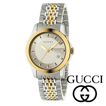 Bi-Colour ☆GUCCI☆ G-Timeless 27mm レディースウォッチ♪