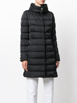 17AW HERNO padded funnel neck coat ブラック