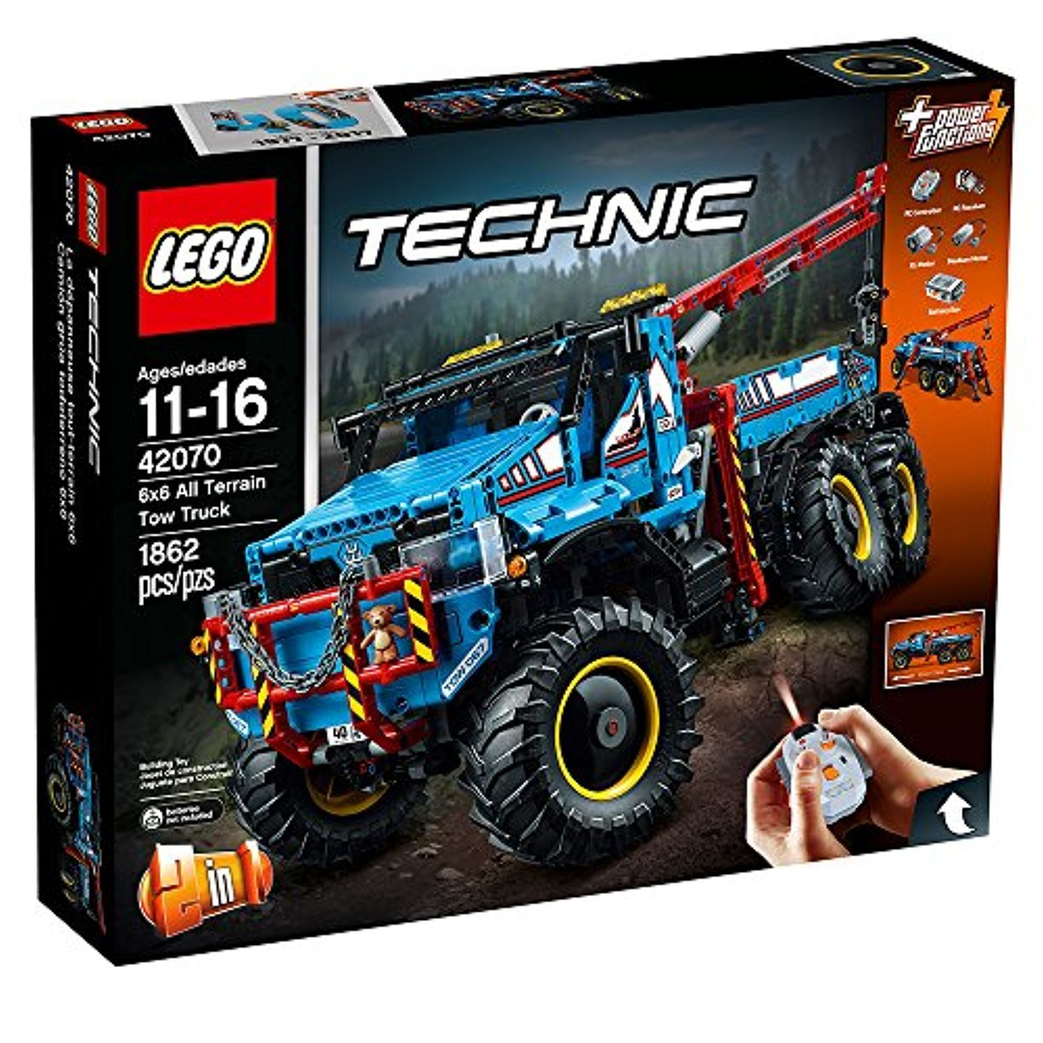 LEGO Technic 6 x 6 All Terrain Tow Truck 42070 Building Kit