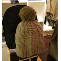 セール!Tory Burch★ LARGE CABLE KNIT POM HAT