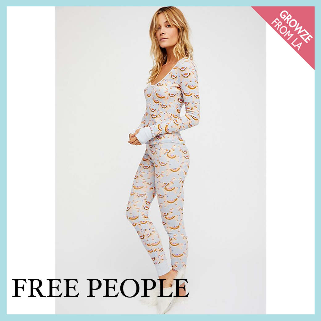 【Free People】リラックス♡ プリント パジャマセット☆