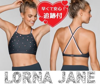 Lorna Jane フィットネストップス ★追跡有【Lorna Jane】Pretty Leopard Sports Bra★
