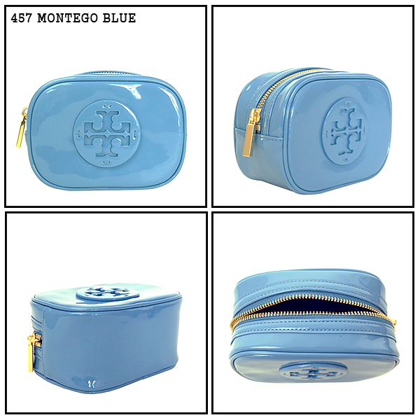 【即発3-5日着】TORY BURCH★Stacked Patent SM Cosmetic Case★