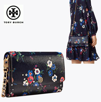☆Tory Burch☆PARKER PRINTED CHAIN WALLET