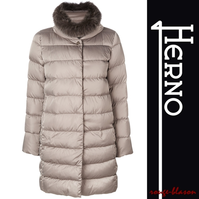 【国内発送】HERNO Down coat Gray polyester