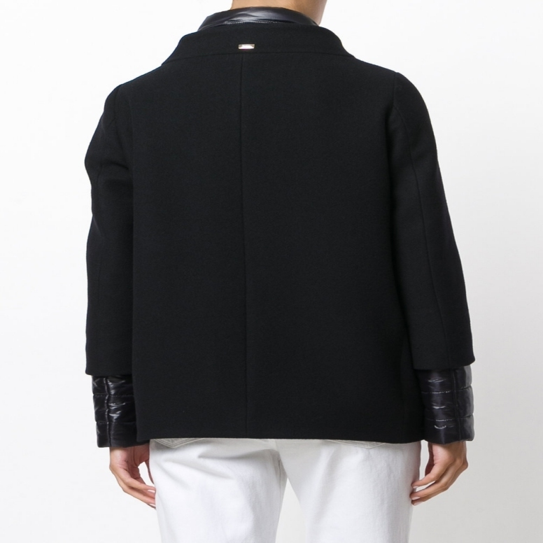 【国内発送】HERNO Zip up jacket Black Wool