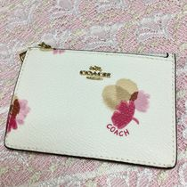 COACH 花柄 FLORAL PRINT キーリング付きパスケース