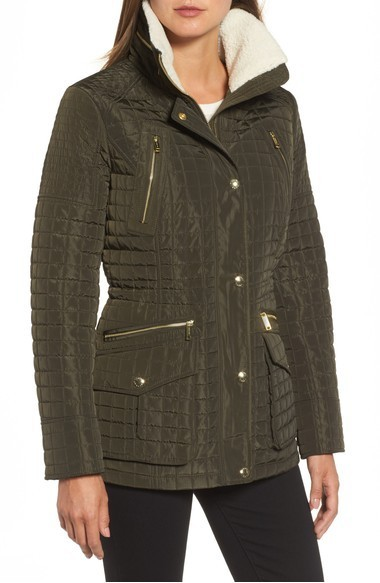 ☆MICHAEL Michael Kors Water Resistant Quilted Anorak with☆