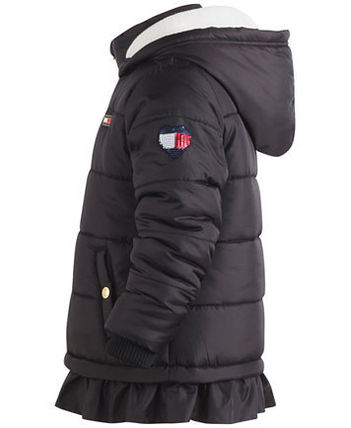 Tommy ruffled hem puffer coat ブラックフライデー3色