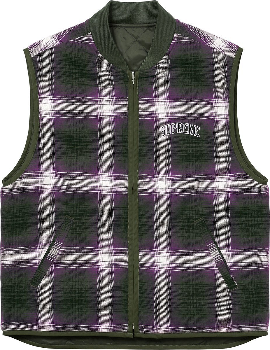 Supreme Reversible Shadow Plaid Vest