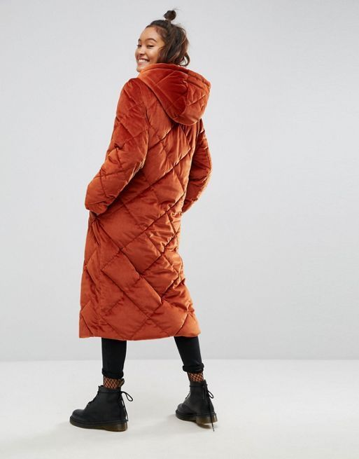 ★関税送料込★ASOS Longline Puffer Coat in Quilted Ve コート