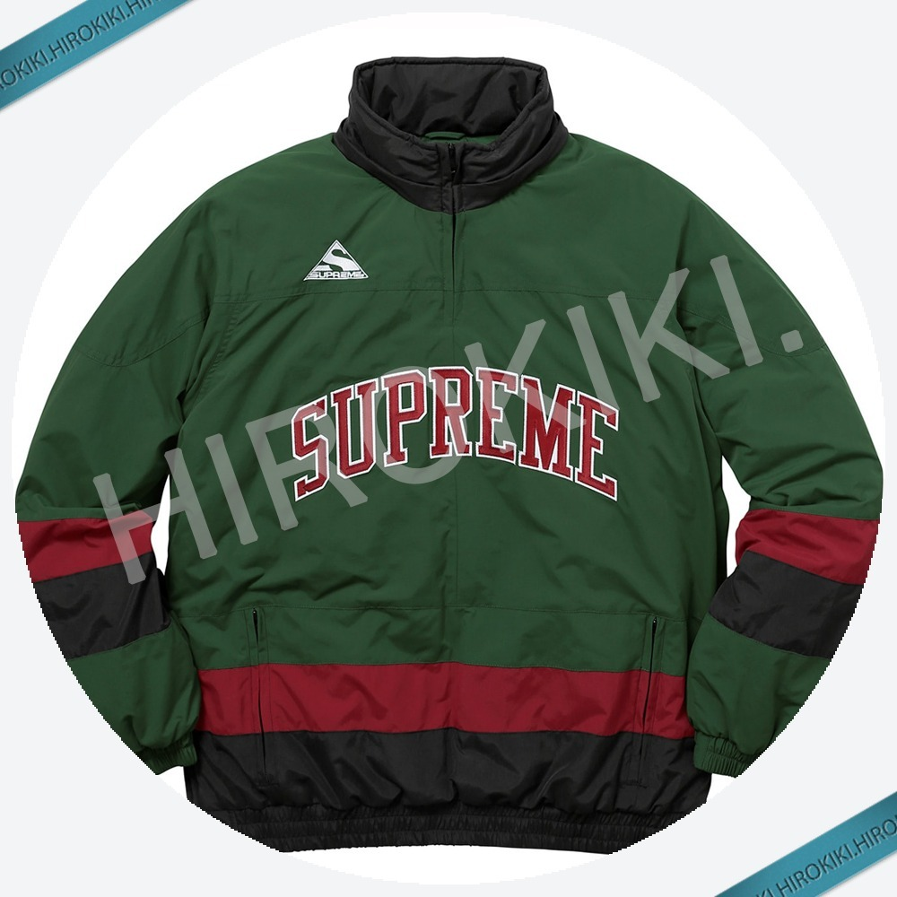 【17AW】Sサイズ★Supreme Puffy Hockey Pullover Jacket 緑