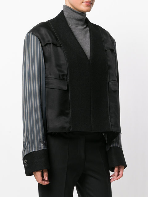 【Maison Margiela】contrast sleeve fitted jac★送料/関税込み