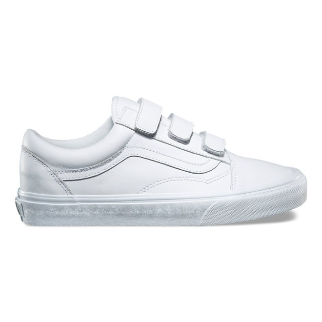 ★VANS★OLD SKOOL V MONO LEATHER★送料込/追跡付 VN0A3D29OOZ