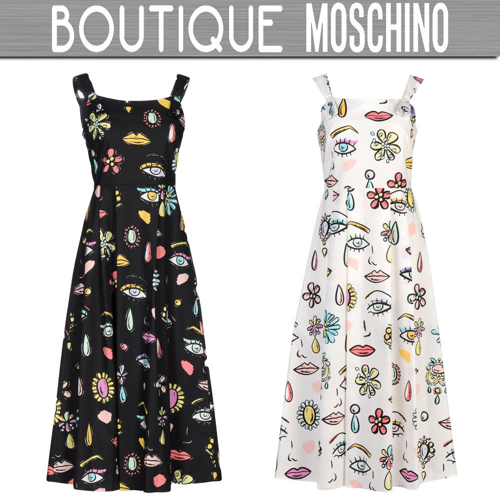 ★SALE★BOUTIQUE MOSCHINO☆ひざ丈ワンピース