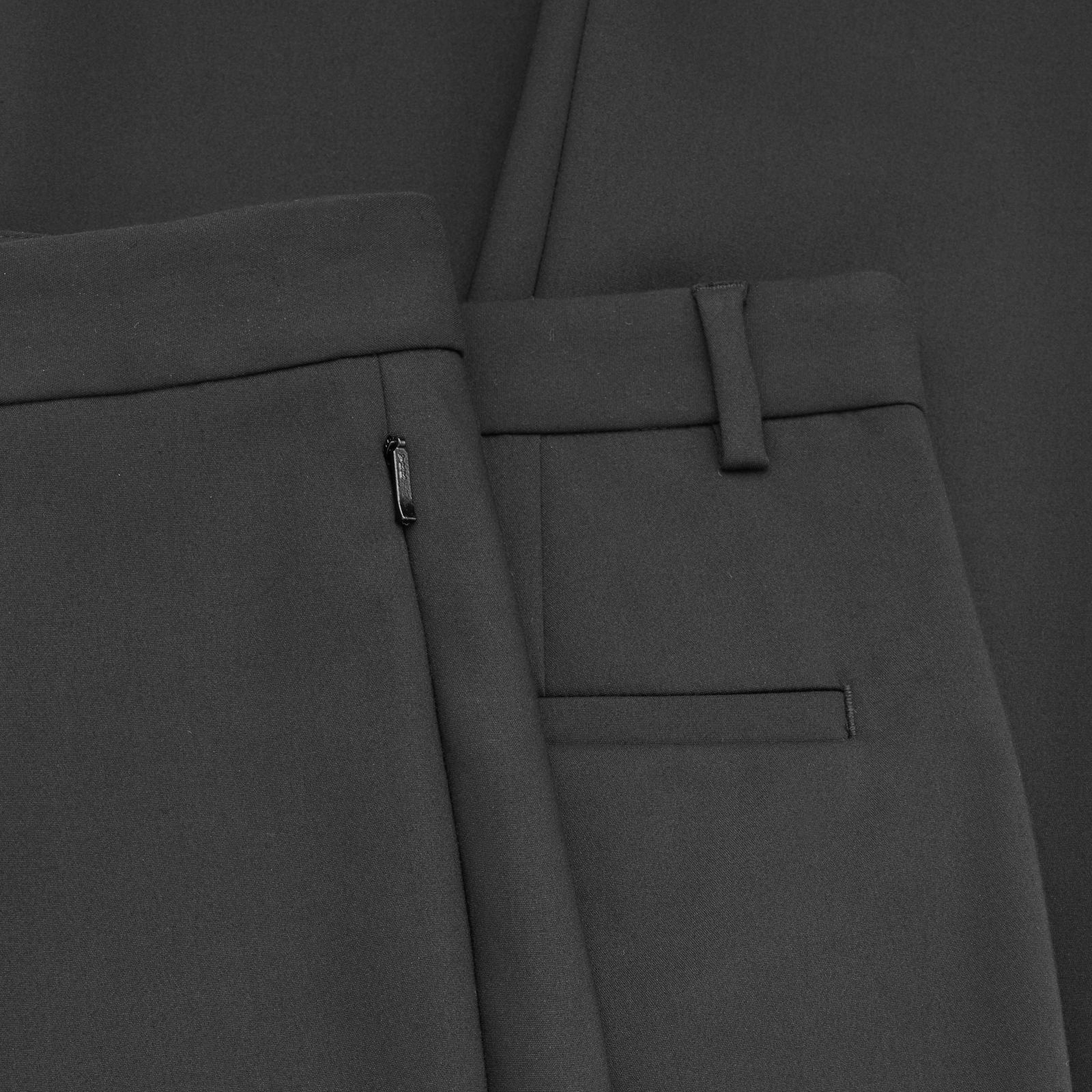 COS☆TAPERED SLIM TROUSERS / black