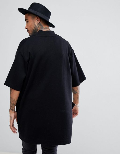 ★関税送料込★ASOS Short Sleeve Duster Jacket In Blac コート