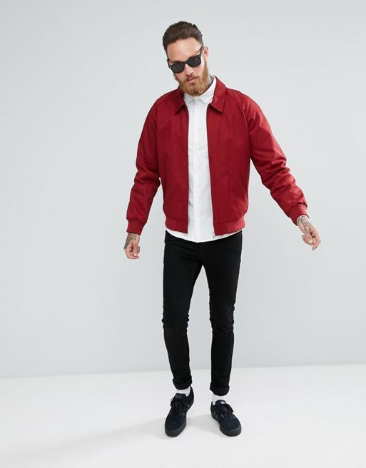 ★関税送料込★ASOS Harrington Jacket In Red コート