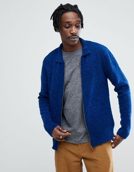 ★関税送料込★ASOS Boucle Textured Harrington Jacket  コート