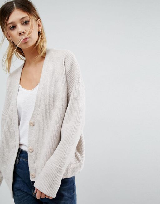 送料込み☆ASOS Chunky Cardigan with Button Front コート