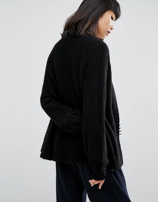 送料込み☆ASOS Chunky Cardigan with Volume Sleeves コート