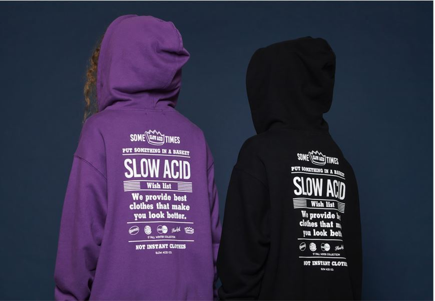 SLOW ACIDのWishlist Hoodieパーカー 全3色