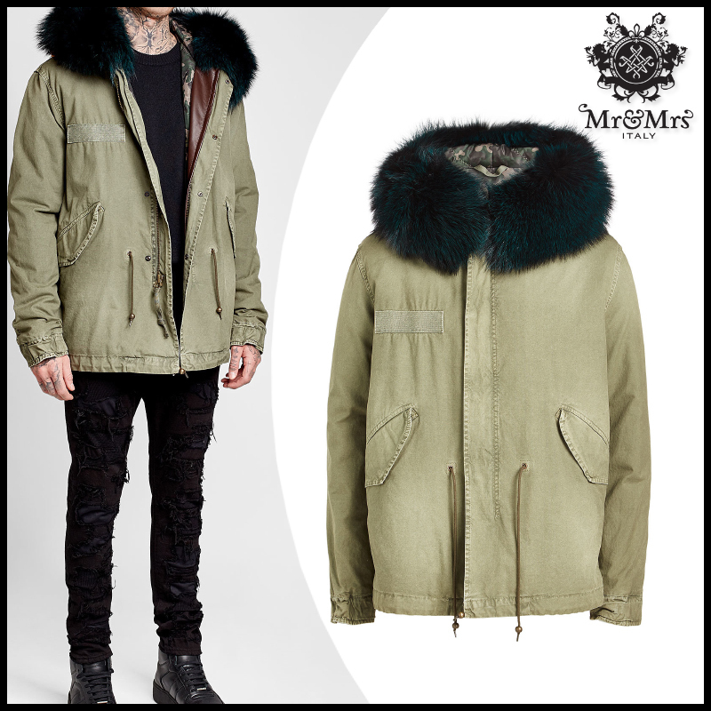 MR & MRS ITALY★Cotton Parka Jacket with Fox Fur