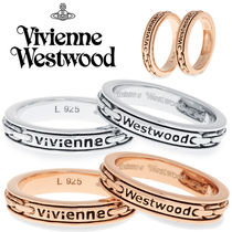 ◆VivienneWestwood◆ロゴ入り♪二連/ダブルリング Jersey Ring