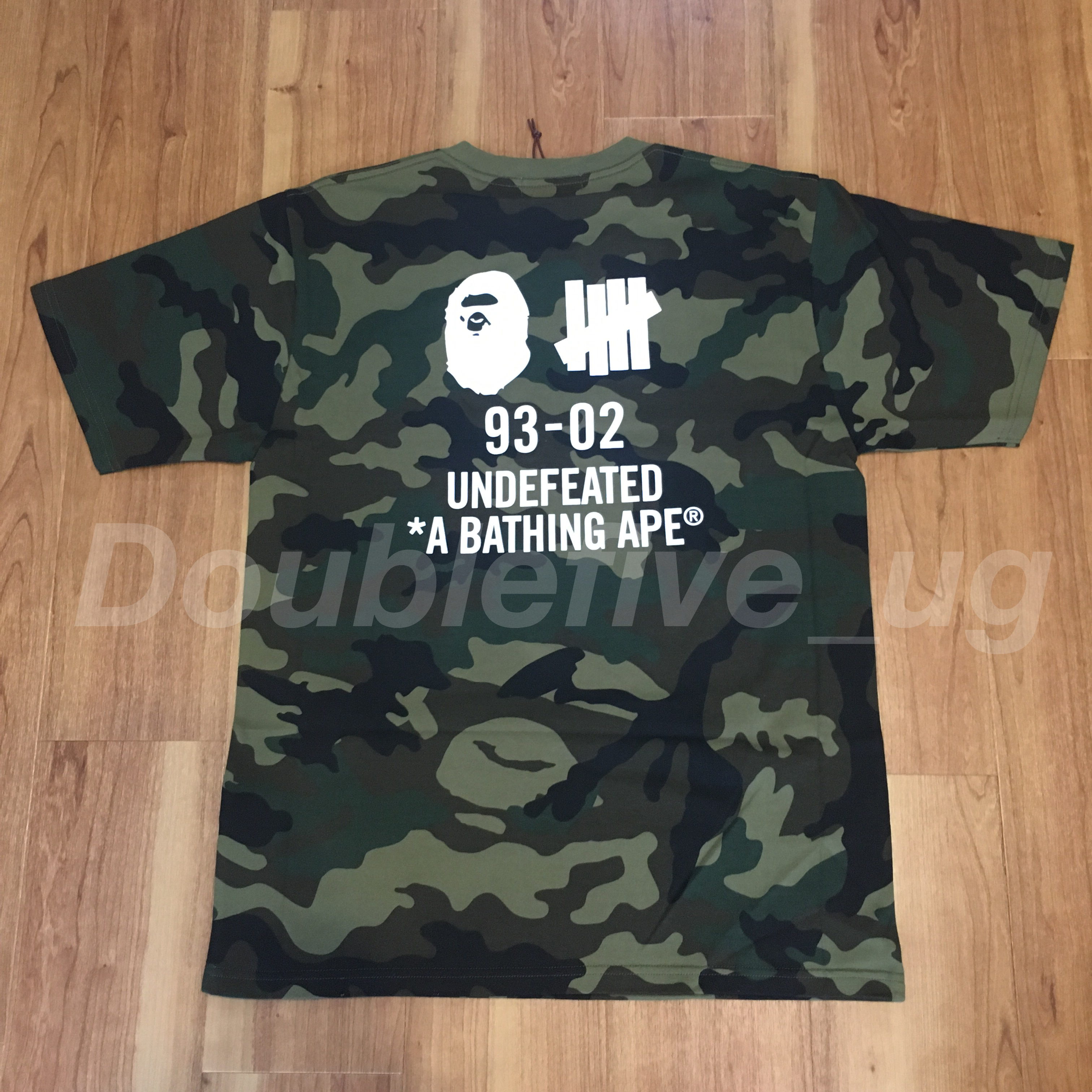新品未使用 A Bathing Ape Bape x Undefeated Tee カモ L 正規品