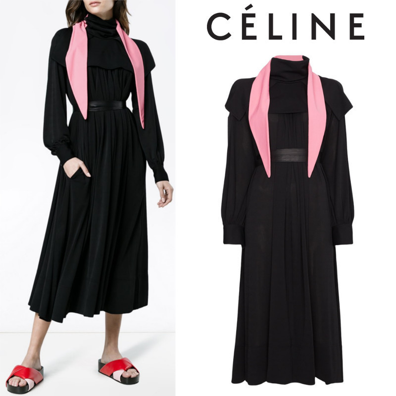 【17AW】大注目!!★CELINE★bib front midi dress