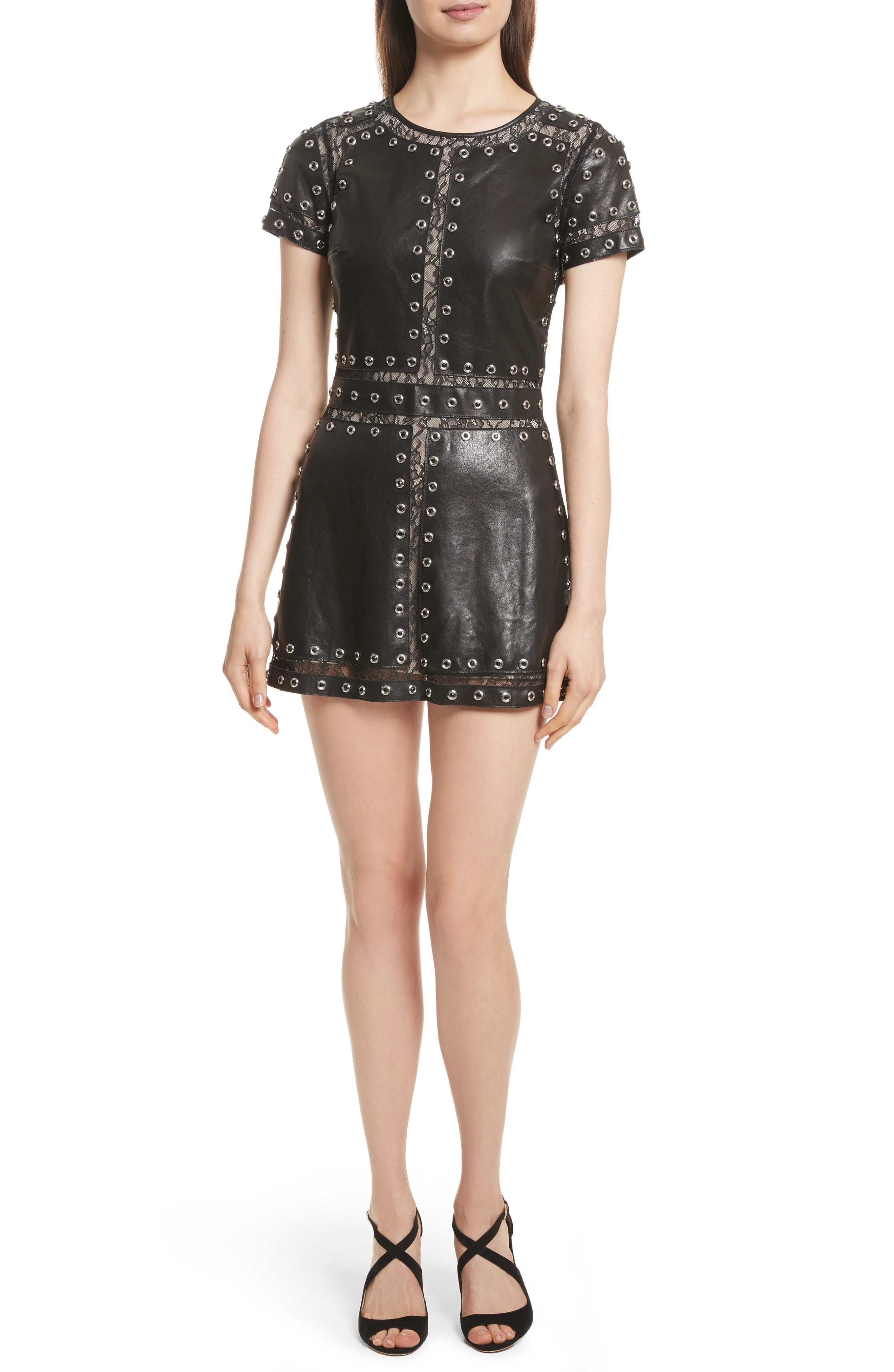 日本未入荷 Alice + Olivia Tahlia Embellished Leather dresses