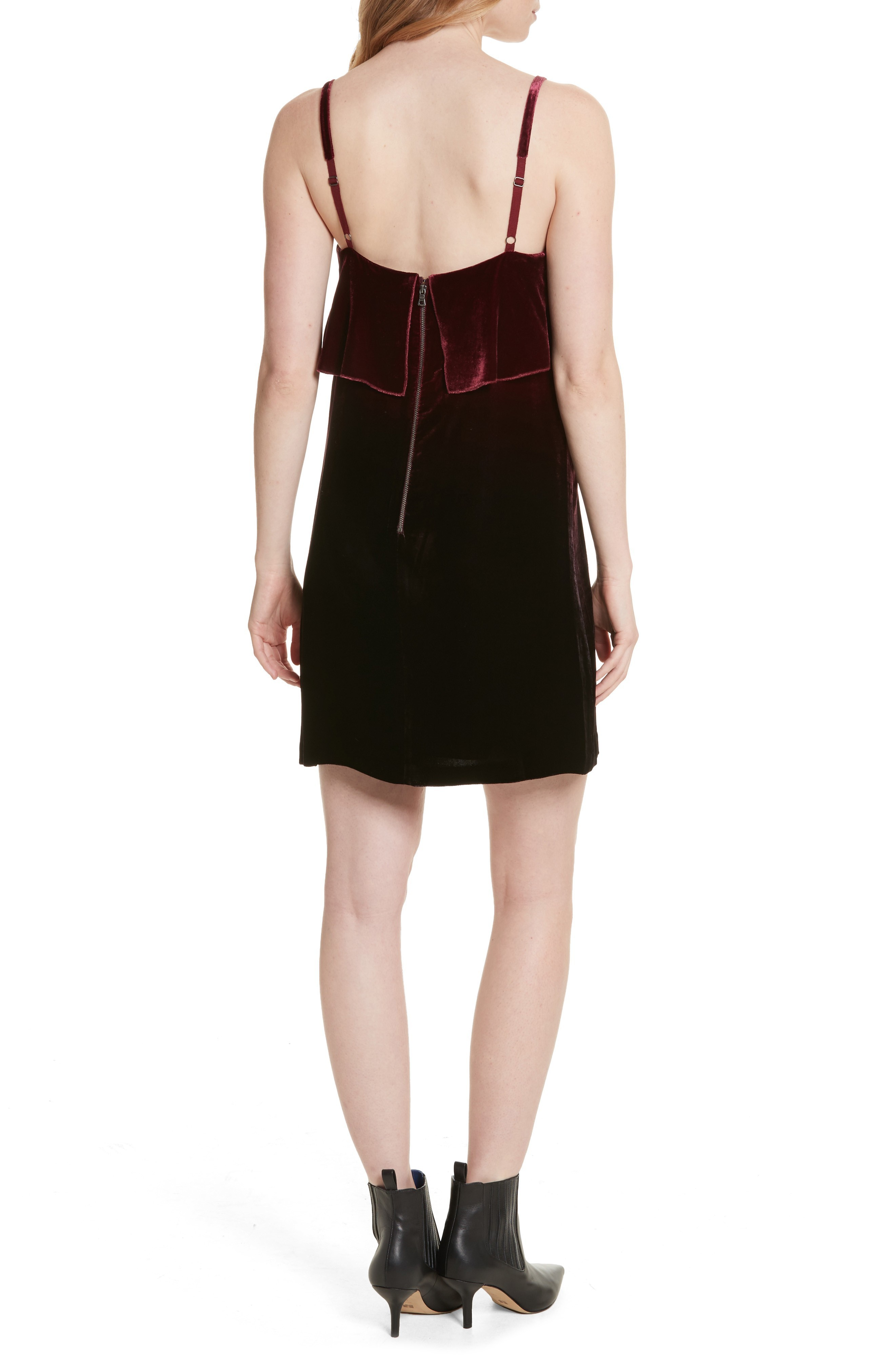 日本未入荷 Alice + Olivia Ruffle Bodice Velvet Dress dresses