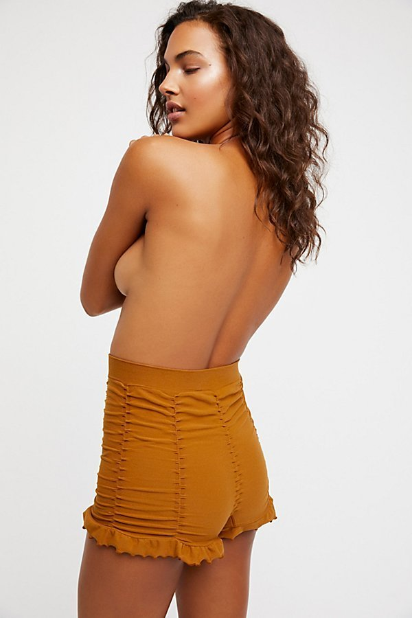 Free People フリーピープル Ruched Seamless Shorts 送料無料