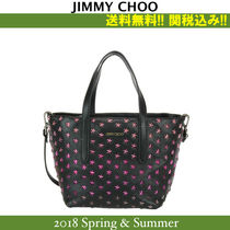 18SS,関税込★Jimmy Choo(ジミーチュウ),MINI SARA Black/fucsia