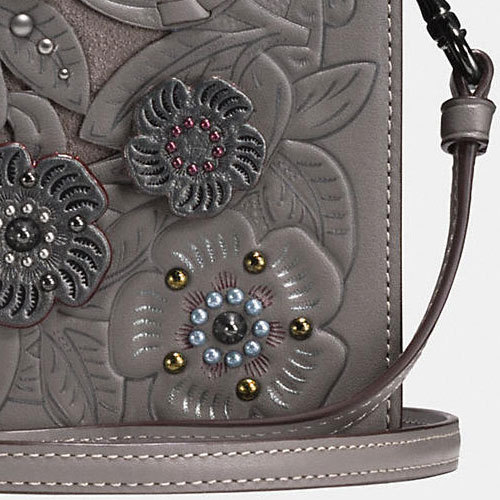 COACH★FOLDOVER CROSSBODY CLUTCH METAL TEAROSE TOOLING 24958
