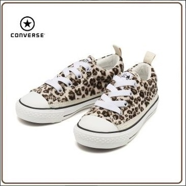 ☆国内正規品☆CONVERSE 15-22CHILD ALL STAR N LEOPARDFUR OX