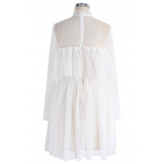 国内発送・送関込☆Chicwish☆Lovely Admirer Ruffle Mesh Dress