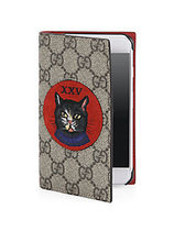 Gucci☆Mystic Cat and XXV Suede Patch iPhone 7☆ネコ☆手帳型