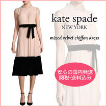 【国内発送】mixed velvet chiffon dress セール