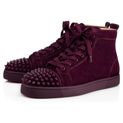 "Christian Louboutin|""Lou Spikes Orlato ""スエードスニーカー"