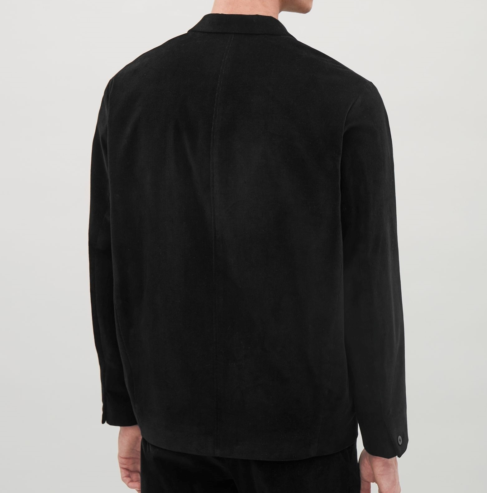 """COS MEN""CORDUROY BLAZER BLACK"