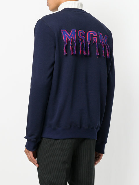 MSGM pull a patch logo au dos スウェット