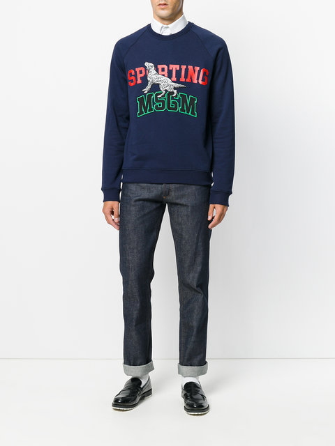 MSGM sweat a details appliques スウェット