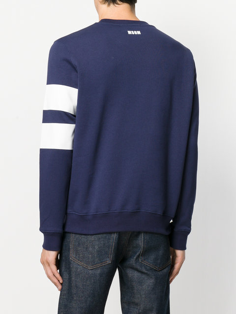 MSGM sweat a bandes contrastantes スウェット