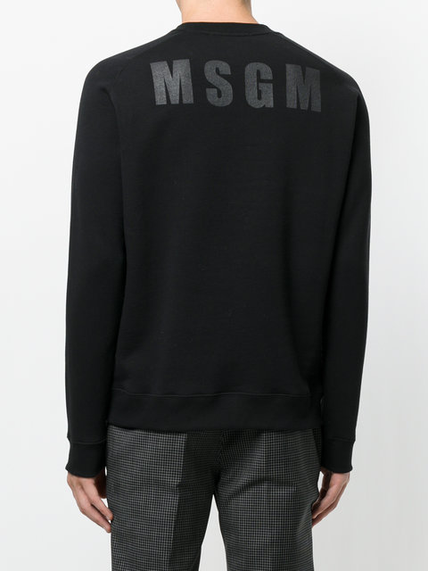 MSGM sweat a logo imprime スウェット