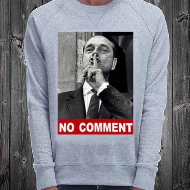 ★NO COMMENT PARIS★トレーナー Chirac no comment  送料関税込