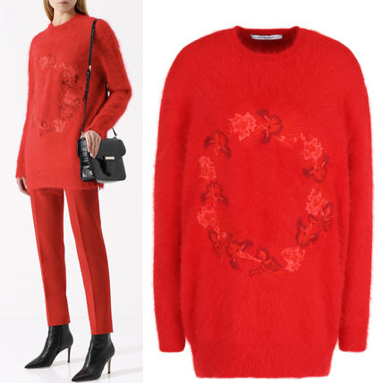 17-18AW G162 FLOWER EMBROIDERED ANGORA SWEATER