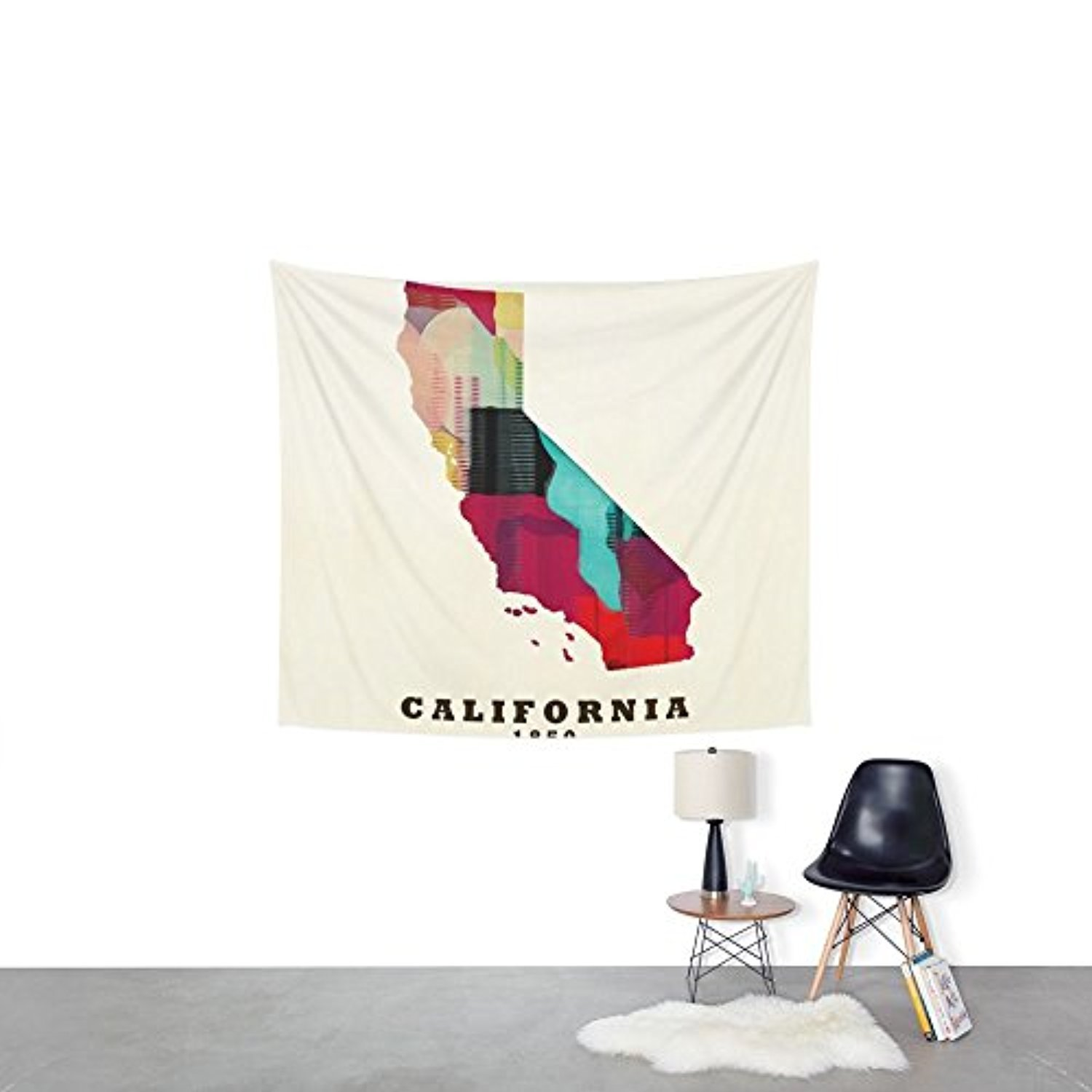 Society6 California State Map Modern Wall Tapestry Small: